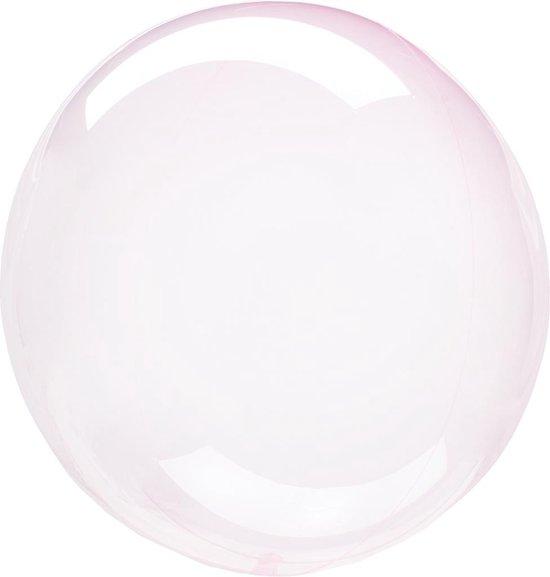 Anagram Folieballon Clearz Petite Crystal 30 Cm Transparant Roze