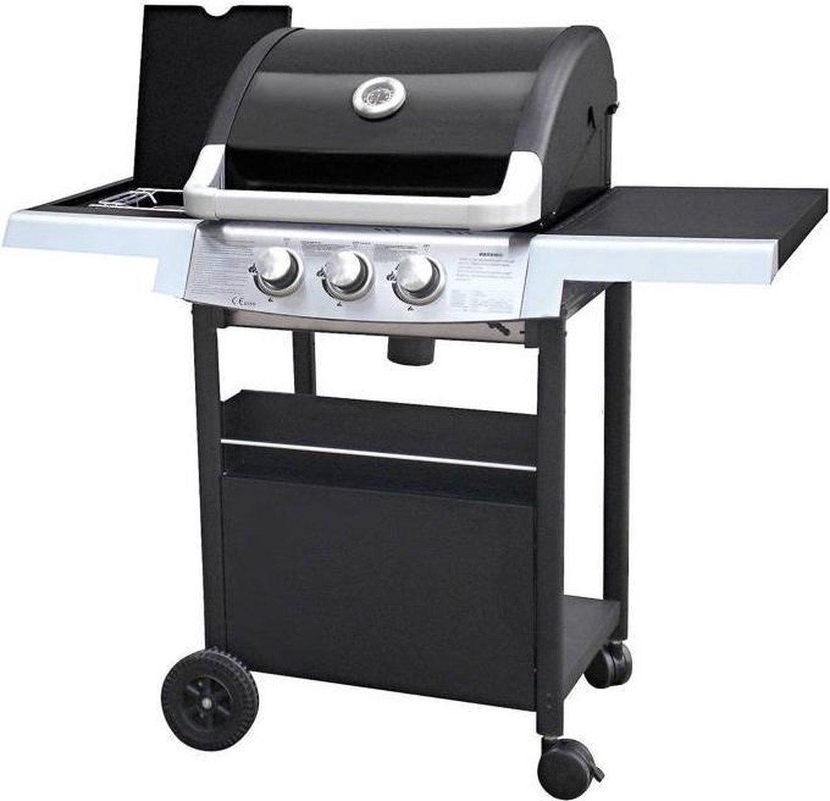 Garden Grill Experience 2+1 Gasbarbecue - 3 Branders - Zwart