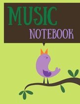 Music notebook: 120 pages wide staff paper manuscript paper (8.5x11), 8 staves per page (easy to write on); for learning; back to scho