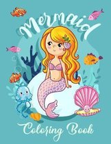 Mermaid Coloring Book: Mermaid Coloring Book for Kids Ages 4-8 - Unique designs of cute and beautiful mermaids