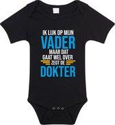 Ik lijk op mijn vader cadeau romper / rompertje - zwart - unisex - jongens / meisjes - zwart rompertje voor baby 68 (4-6 maanden)