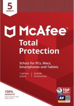 McAfee Total Protection 5 apparaten (levering binn