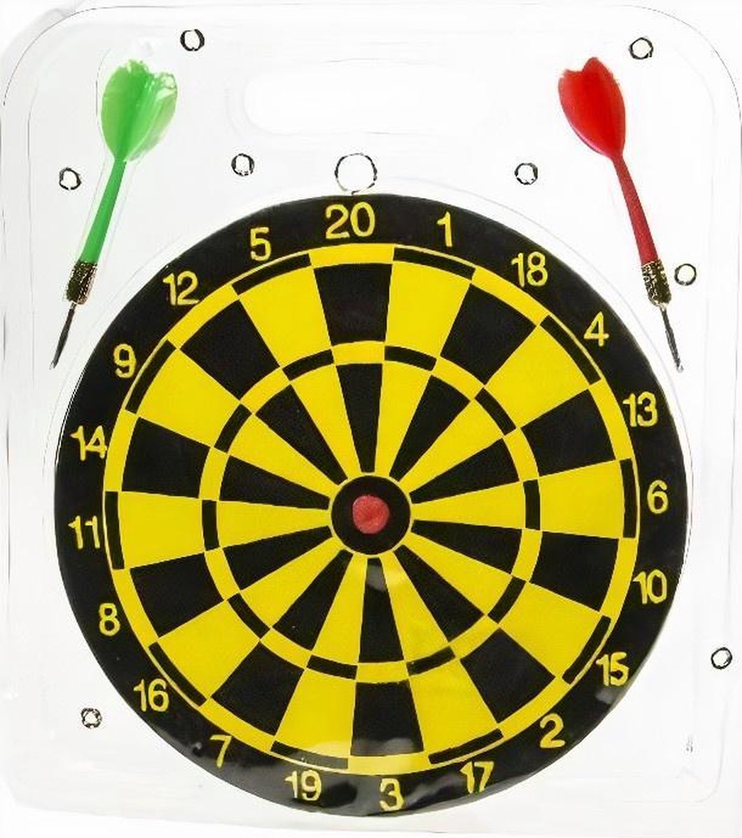 Lg-imports Dartspel Junior 22,5 Cm Zwart/geel 3-delig