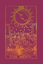 The Moon: Tarot Card Notebook Raspberry Pink 175-Page