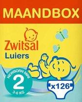 Zwitsal Luiers - Newborn Mini Maat 2 - 126 Stuks - Voordeelverpakking
