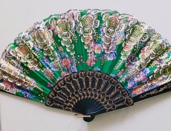 Spaanse handwaaiers 6 stuks multikleuren