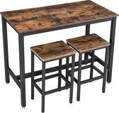 Trend24 - Houten bartafel - Vintage / Industrieel - Rustiek Bruin