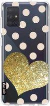 Samsung Galaxy A71 (2020) hoesje Glitter Heart Casetastic Smartphone Hoesje softcover case