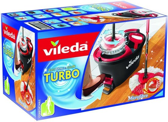 Vileda Easy Wring & Clean Turbo Mopset - Pedaalsysteem - 6L