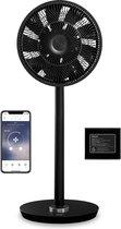 Duux Whisper Flex Ventilator Zwart + Dock & Battery Pack | Statiefventilator | Extreem Stil | 710m³/u | 26 Standen | WiFi + App