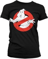 GHOSTBUSTERS - T-Shirt Distressed Logo - GIRLY Black (M)