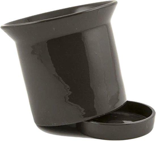 Pot met schaal BASE - Diameter 17,5 cm / Zwart
