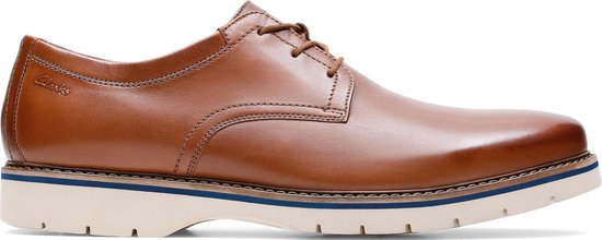 Clarks - Herenschoenen - Bayhill Plain - H - tan leather - maat 7,5