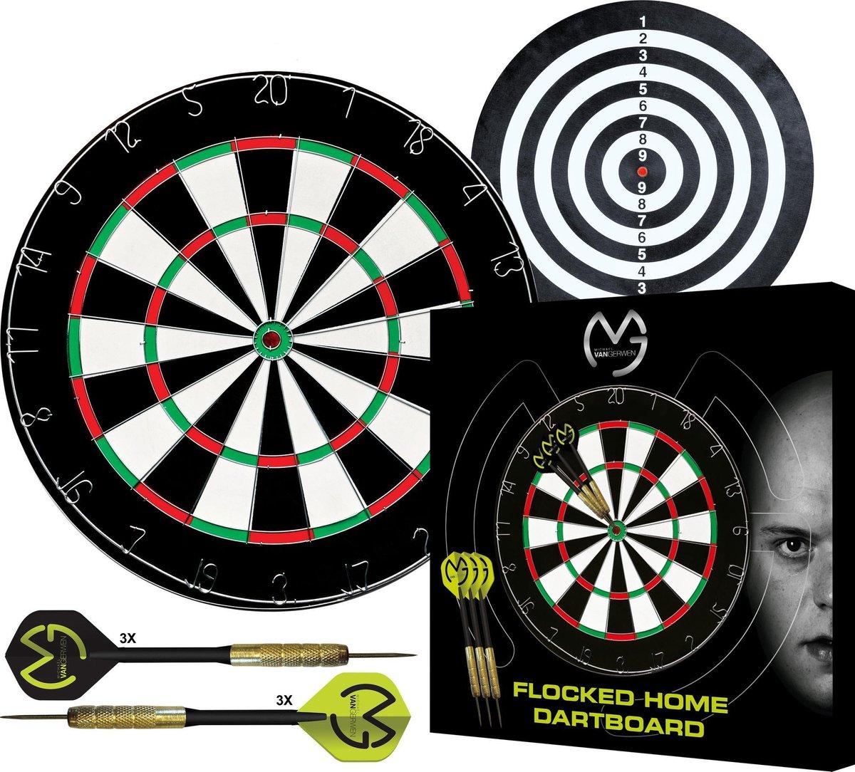 XQ-Max - dartbord - Michael van Gerwen flocked dartbord set - inclusief complete dartpijlen