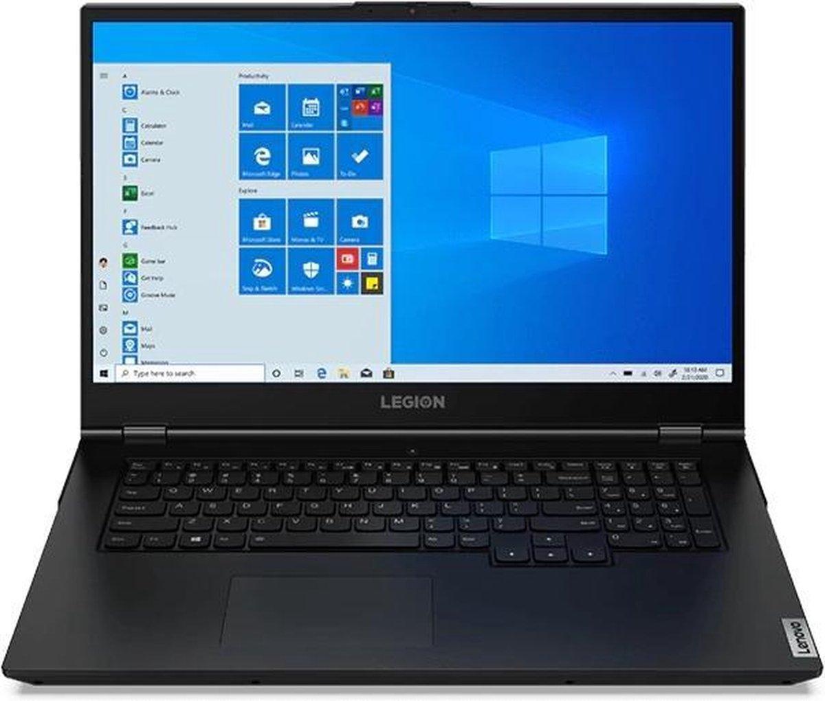 "Lenovo Legion 5 Notebook 43,9 cm (17.3"") 1920 x 1080 Pixels Intel® 10de generatie Core™ i7 16 GB DDR4-SDRAM 512 GB SSD NVIDIA® GeForce® GTX 1650 Wi-Fi 6 (802.11ax) Windows 10 Home Zwart"