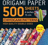 """Origami Paper 500 sheets Chiyogami Patterns 6"""" 15c"""