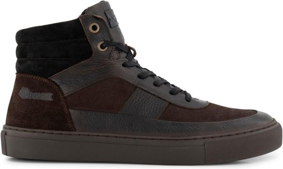 NoGRZ A.Rimaldi - Halfhoge gevoerde heren schoenen - Donkerbruin Leer - Maat 44
