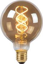 Lucide G95 Filament lamp - Ø 9,5 cm - LED Dimb. - E27 - 1x5W 2200K - Fumé