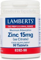 Lamberts Zink Citraat 15mg - 90 Tabletten - Mineralen