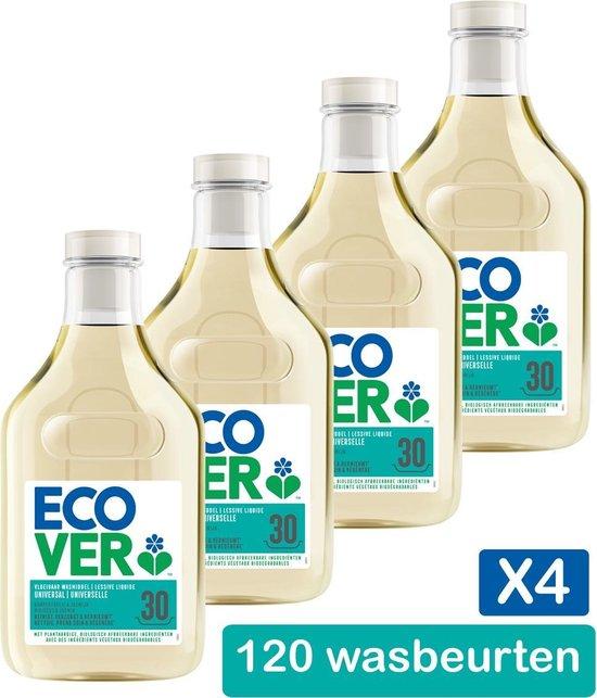 Ecover Vloeibaar Wasmiddel Universal Kamperfoelie & Jasmijn - 4 x 1,5 l - 120 Wasbeurten