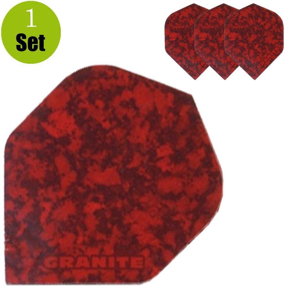 Granite Dart Flights - Rood- ()