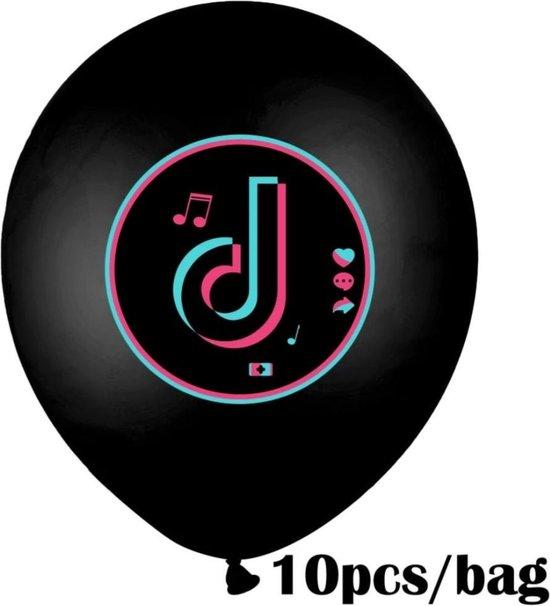 Tik Tok Ballonnen 10 Stuks Themafeest/Tienerfeest/Tiktok party