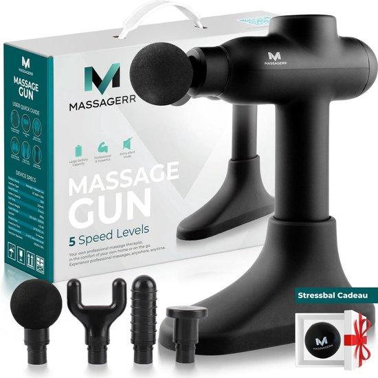 Massagerr® Massage Gun Professioneel - Massage Apparaat - Inclusief Standaard