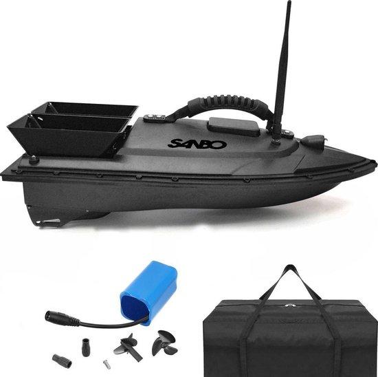 Sanbo Voerboot - inclusief tas - Voerboot Karpervissen - Baitboat - visspullen - karpervissen - bestuurbare vissen boot -