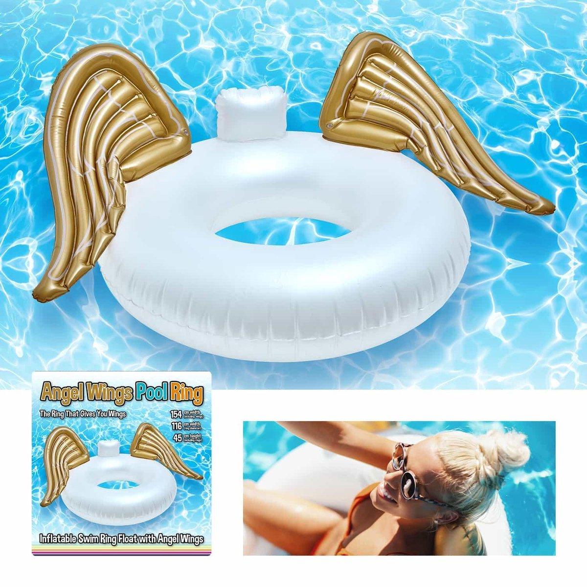 CKB - Opblaasbare Zwembad - zwemring zwembadvlotter - Met gouden Engelenvleugels