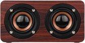 Lovnix Bluetooth Houten Retro Speaker - Bruin