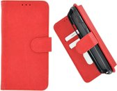 Pearlycase Hoes Wallet Book Case Rood voor Huawei P20 Lite (2019)