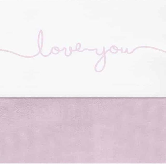 Jollein Love you Laken 75x100cm wit met roze letters