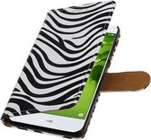 Wicked Narwal | Zebra bookstyle / book case/ wallet case Hoes voor Huawei Nova 2 Wit