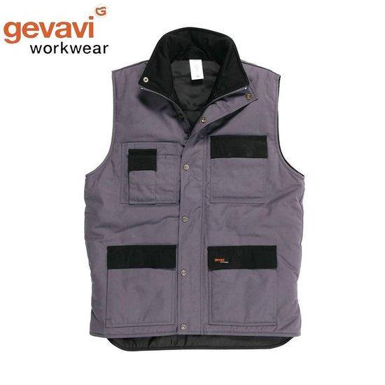 Gevavi Workwear GW21 Grijs Bodywarmer Uniseks