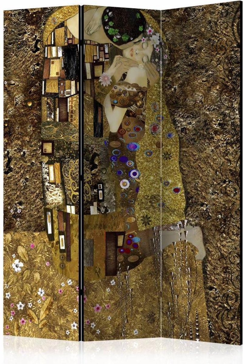 Vouwscherm - Gouden kus 135x172cm - karo-art