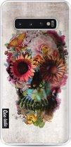 Samsung Galaxy S10 hoesje Skull 2 Casetastic Smartphone Hoesje softcover case