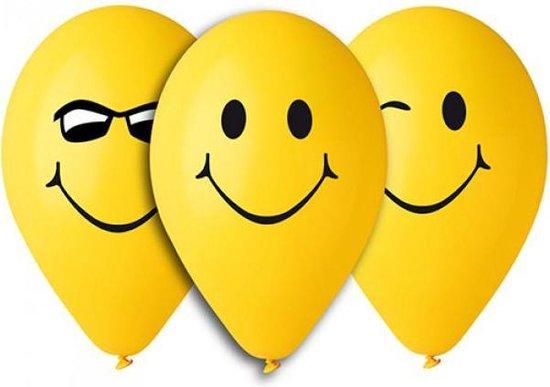 Happy face ballonnen 5 stuks 30cm
