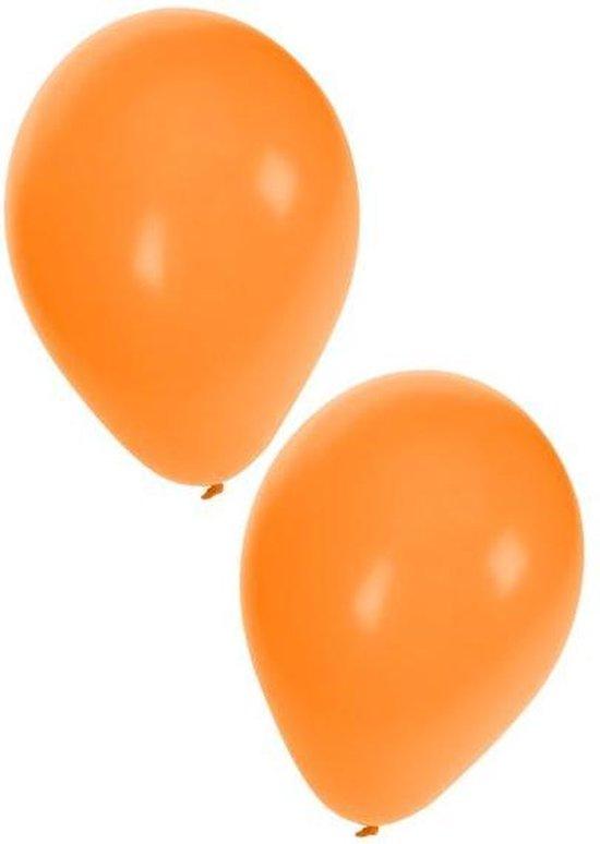 Ballon 50 x oranje nr 10