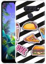 LG Q60 Hoesje Love Fast Food