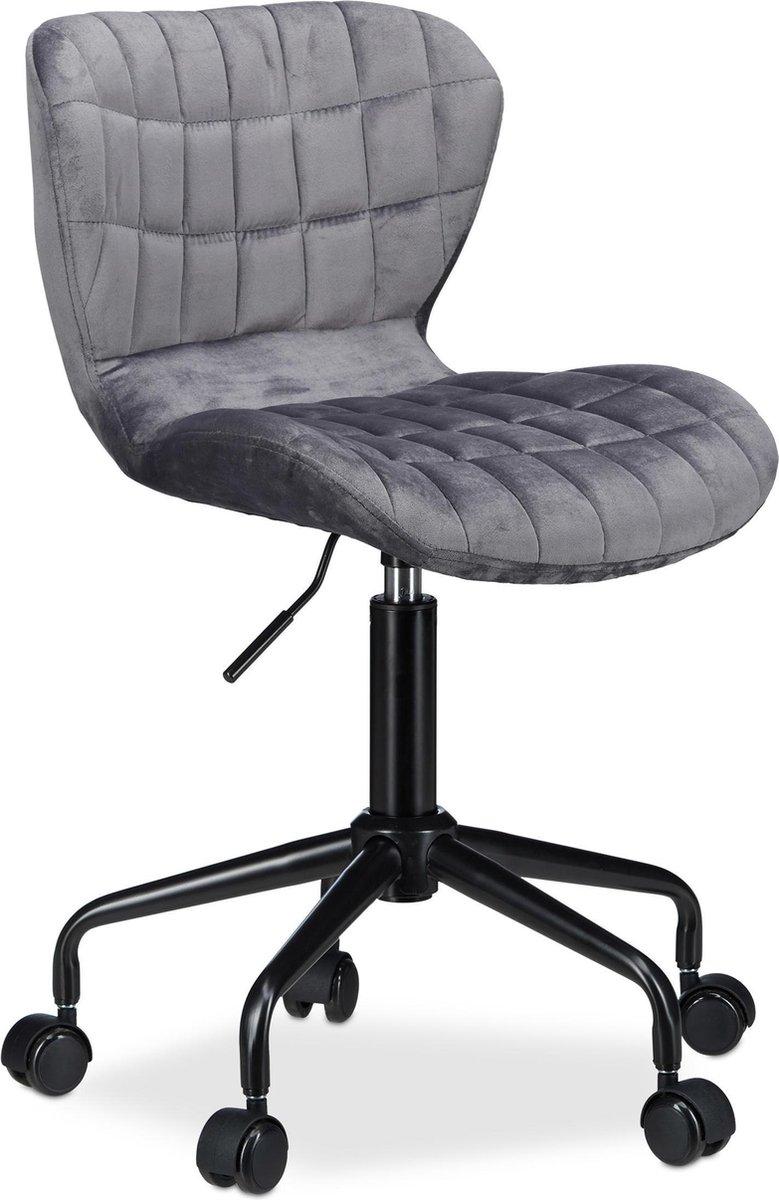 relaxdays bureaustoel - directiestoel - computerstoel - hoogte verstelbaar - burostoel grijs