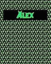 120 Page Handwriting Practice Book with Green Alien Cover Alex