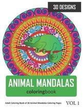 Animal Mandalas Coloring Book