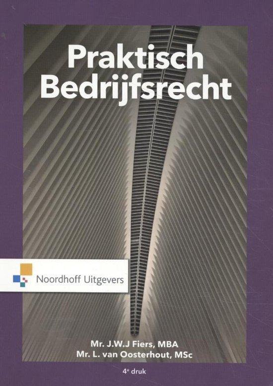 Boek cover Praktisch Bedrijfsrecht van J.W.J Fiers (Paperback)