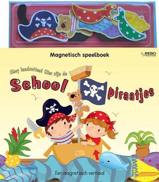 Magnetisch speelboek - Ahoy landrotten! hier zijn de schoolpiraatjes - Ellie Patterson |
