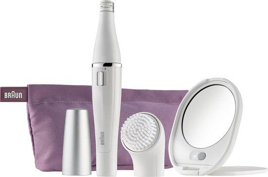 Braun Face Gezichtsepilator met Gezichtsreinigingsborstel inclusief spiegel + toilettas - SE830