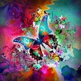 Diamond Painting Abstract vlinder (XL Afmeting, Canvas 47X57cm , Afbeelding 40X50cm) Diamant Schilderen Hobby Abstract vlinder Pixelen Pixelpakket DiamondPaintings Diamond Painting Pakket.