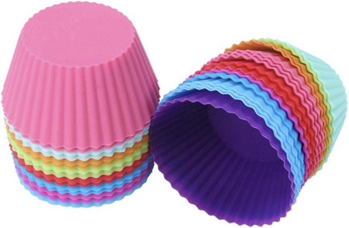 Siliconen Cupcake Vormpjes - 12 stuks -  7 cm