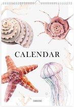 Fabrikten Strand Verjaardagskalender – A4 – Creme/Roze/Bruin