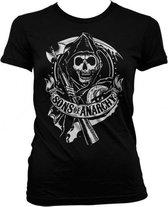 Sons Of Anarchy shirt dames zwart S