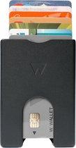 Walter Wallet - Portemonnee - Zwart Aluminium